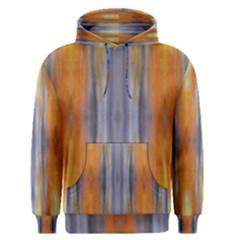Gray Orange Stripes Painting Men s Pullover Hoodies by Costasonlineshop