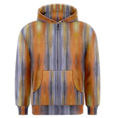 Gray Orange Stripes Painting Men s Zipper Hoodies