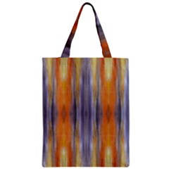 Gray Orange Stripes Painting Zipper Classic Tote Bags by Costasonlineshop