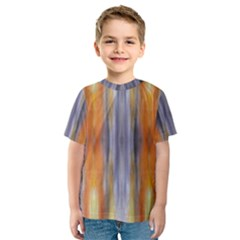 Gray Orange Stripes Painting Kid s Sport Mesh Tees by Costasonlineshop