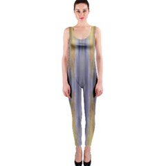 Gray Orange Stripes Painting Onepiece Catsuits by Costasonlineshop