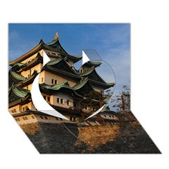 Nagoya Castle Heart 3d Greeting Card (7x5)  by trendistuff