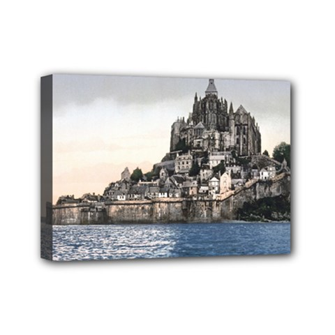 Le Mont St Michel 2 Mini Canvas 7  X 5  by trendistuff