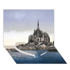 Le Mont St Michel 2 Heart Bottom 3d Greeting Card (7x5)