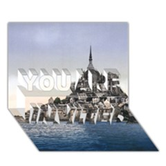 Le Mont St Michel 2 You Are Invited 3d Greeting Card (7x5)