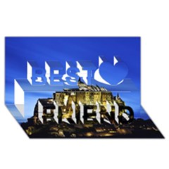 Le Mont St Michel 1 Best Friends 3d Greeting Card (8x4)