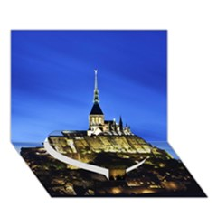 Le Mont St Michel 1 Heart Bottom 3d Greeting Card (7x5)