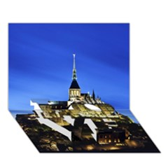 Le Mont St Michel 1 Love Bottom 3d Greeting Card (7x5)