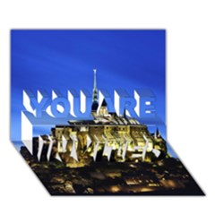 Le Mont St Michel 1 You Are Invited 3d Greeting Card (7x5)