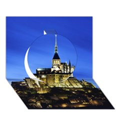 Le Mont St Michel 1 Circle 3d Greeting Card (7x5)  by trendistuff