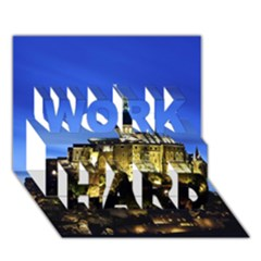 Le Mont St Michel 1 Work Hard 3d Greeting Card (7x5)