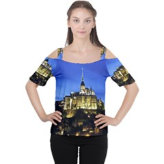 Le Mont St Michel 1 Women s Cutout Shoulder Tee by trendistuff