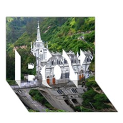 Las Lajas Sanctuary 2 Boy 3d Greeting Card (7x5)