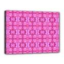 Pretty Pink Flower Pattern Canvas 16  x 12  View1