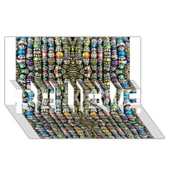 Kaleidoscope Jewelry  Mood Beads Believe 3d Greeting Card (8x4)