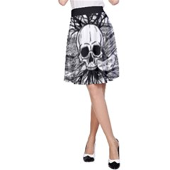 Skull & Books A-Line Skirt
