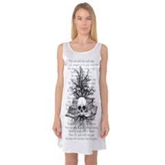 Skull & Books Sleeveless Satin Nightdresses