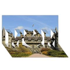 Inveraray Castle Mom 3d Greeting Card (8x4)  by trendistuff