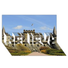 Inveraray Castle Believe 3d Greeting Card (8x4)