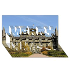 Inveraray Castle Merry Xmas 3d Greeting Card (8x4)  by trendistuff