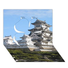 Himeji Castle Clover 3d Greeting Card (7x5)