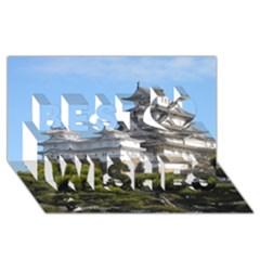 Himeji Castle Best Wish 3d Greeting Card (8x4)