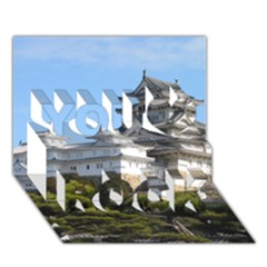 Himeji Castle You Rock 3d Greeting Card (7x5)  by trendistuff