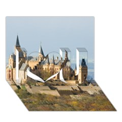 Hilltop Castle I Love You 3d Greeting Card (7x5)  by trendistuff