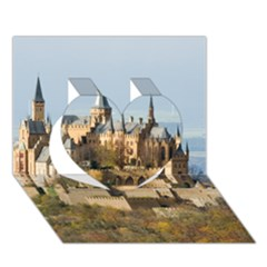 Hilltop Castle Heart 3d Greeting Card (7x5)  by trendistuff
