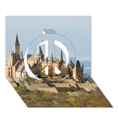 Hilltop Castle Peace Sign 3d Greeting Card (7x5)  by trendistuff