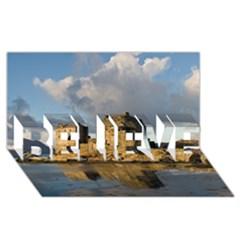 Eilean Donan Castle Believe 3d Greeting Card (8x4)  by trendistuff