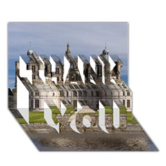 Chambord Castle Thank You 3d Greeting Card (7x5)  by trendistuff