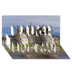 Chambord Castle Laugh Live Love 3d Greeting Card (8x4)  by trendistuff
