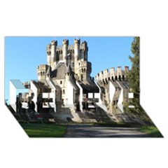 Butron Castle Believe 3d Greeting Card (8x4)