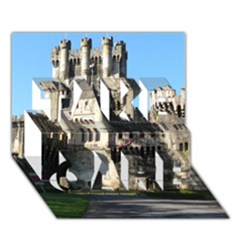 Butron Castle Take Care 3d Greeting Card (7x5)
