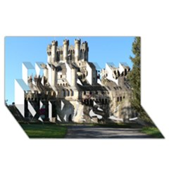 Butron Castle Merry Xmas 3d Greeting Card (8x4)