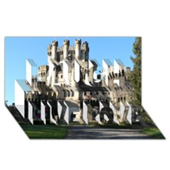 Butron Castle Laugh Live Love 3d Greeting Card (8x4)