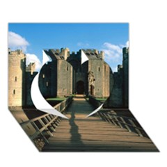 Bodiam Castle Heart 3d Greeting Card (7x5)