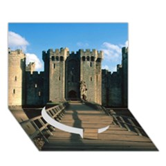 Bodiam Castle Circle Bottom 3d Greeting Card (7x5)