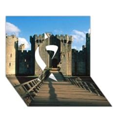 Bodiam Castle Ribbon 3d Greeting Card (7x5)