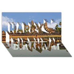 Angkor Wat Happy Birthday 3d Greeting Card (8x4)