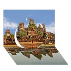 Angkor Wat Circle 3d Greeting Card (7x5)  by trendistuff