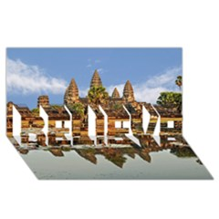 Angkor Wat Believe 3d Greeting Card (8x4)