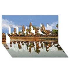 Angkor Wat Best Wish 3d Greeting Card (8x4)