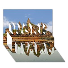 Angkor Wat Work Hard 3d Greeting Card (7x5)  by trendistuff