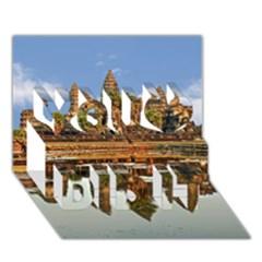 Angkor Wat You Did It 3d Greeting Card (7x5) by trendistuff