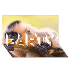 Two Monkeys Party 3d Greeting Card (8x4)