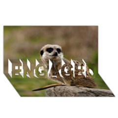 Meerkat Engaged 3d Greeting Card (8x4)