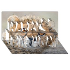 Leopard Laying Down Happy Birthday 3d Greeting Card (8x4)  by trendistuff