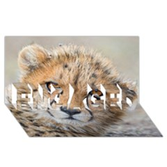 Leopard Laying Down Engaged 3d Greeting Card (8x4)